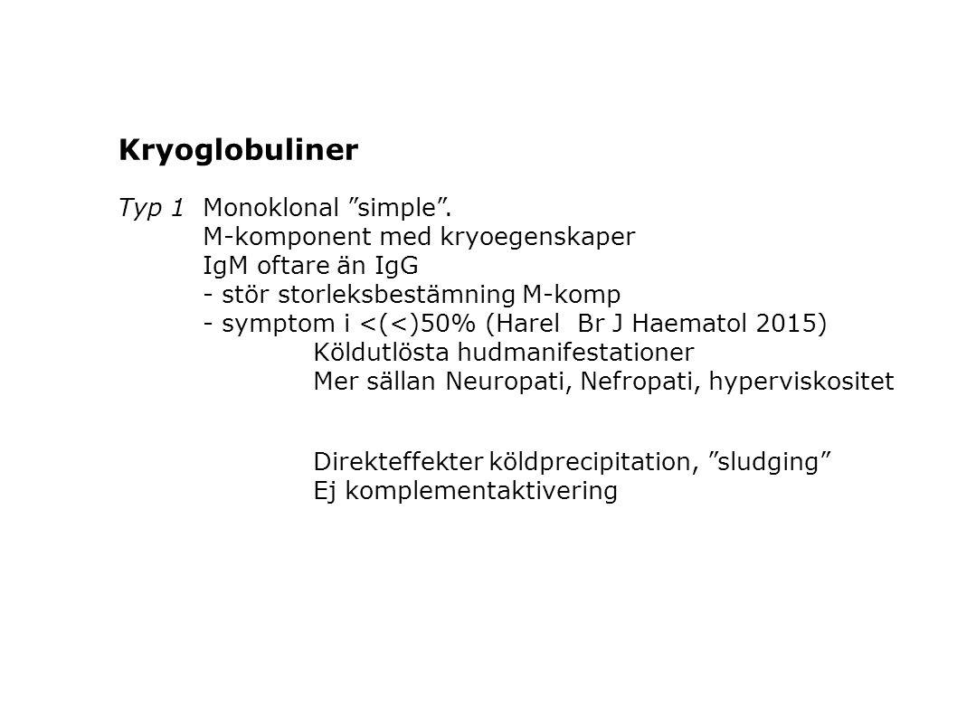 Kryoglobuliner Typ 1 Monoklonal simple .
