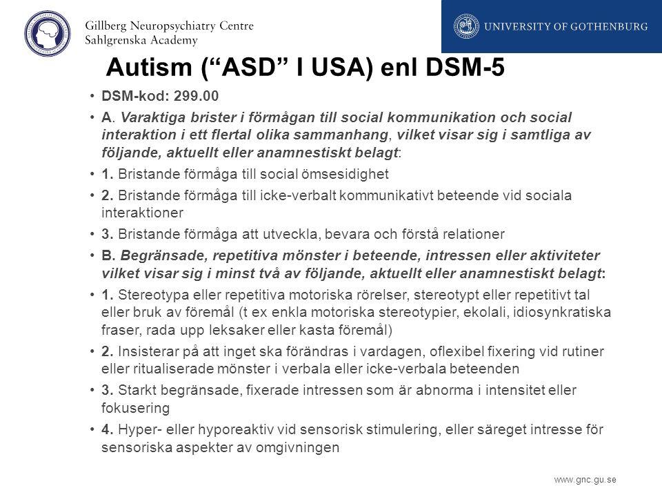 Autism ( ASD I USA) enl DSM-5