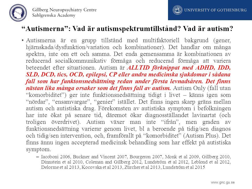 Autismerna : Vad är autismspektrumtillstånd Vad är autism