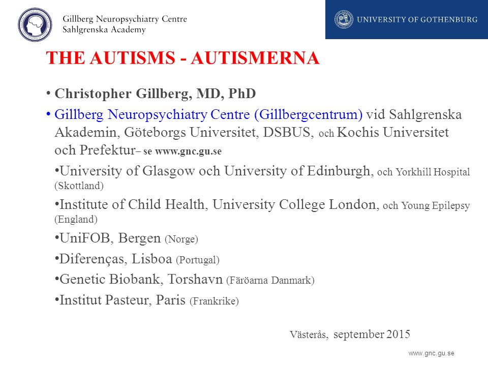 THE AUTISMS - AUTISMERNA
