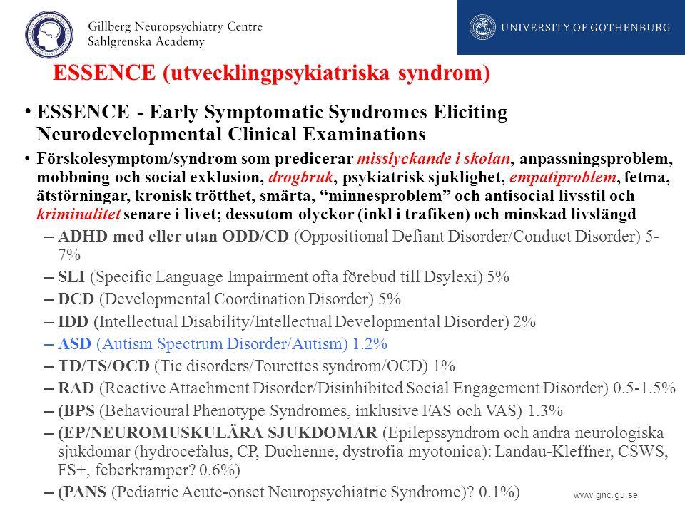 ESSENCE (utvecklingpsykiatriska syndrom)