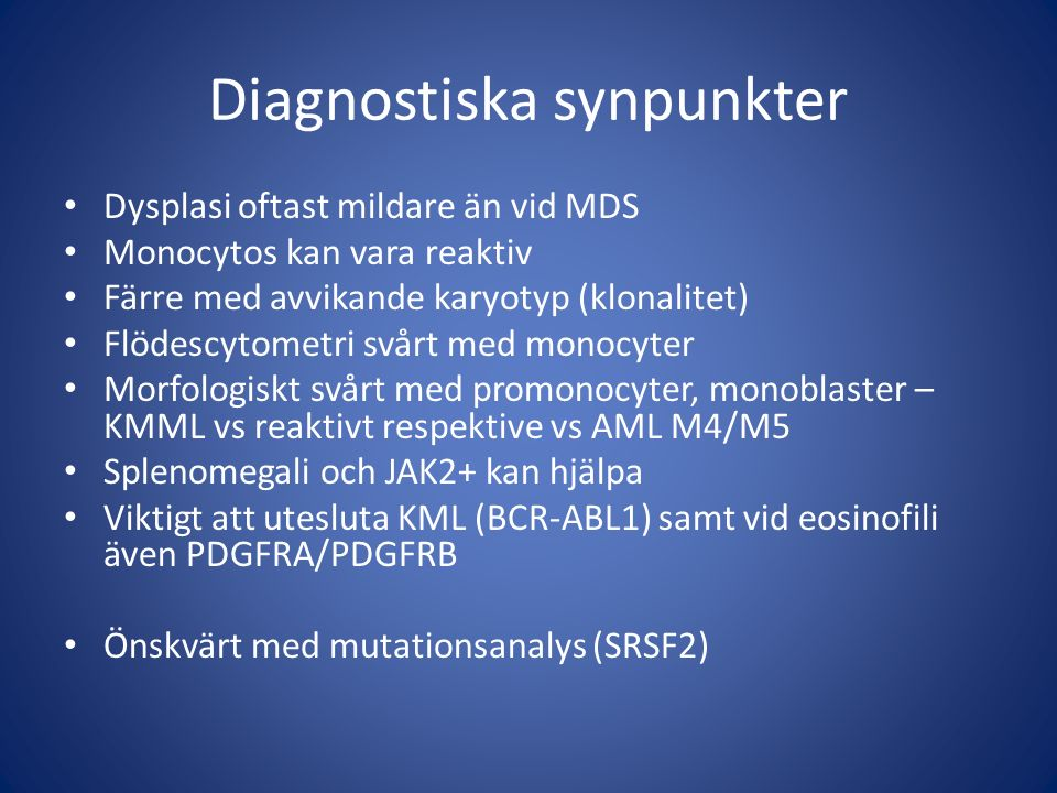 Diagnostiska synpunkter