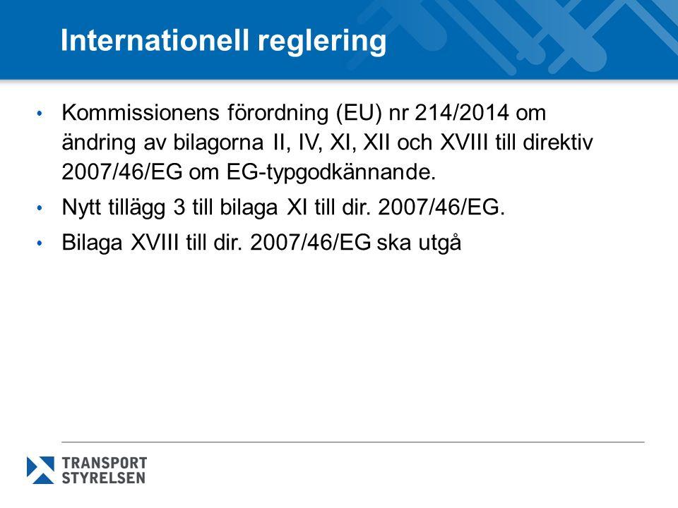 Internationell reglering