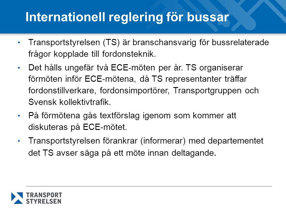 Internationell reglering för bussar