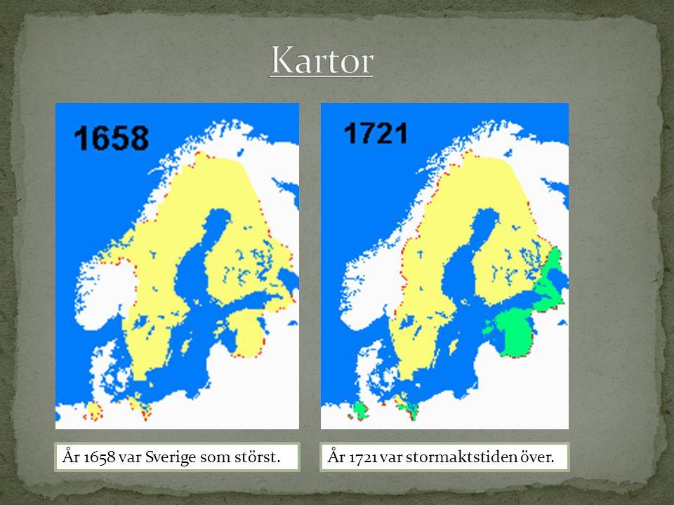 Kartor År 1658 var Sverige som störst.