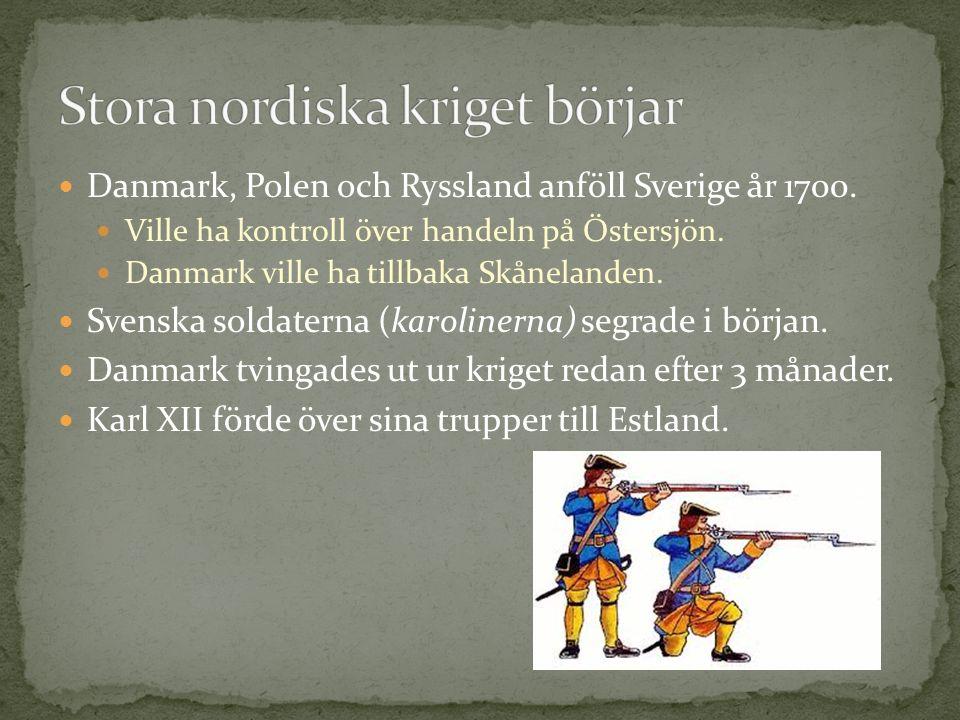 Stora nordiska kriget börjar