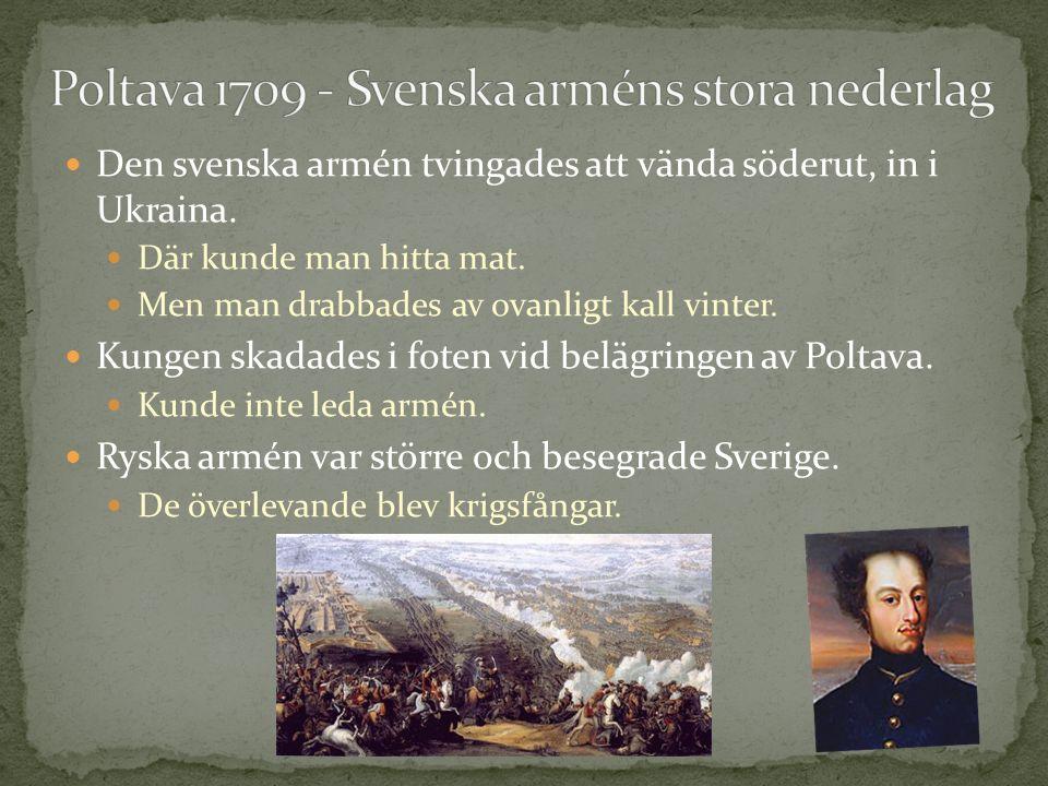 Poltava 1709 - Svenska arméns stora nederlag