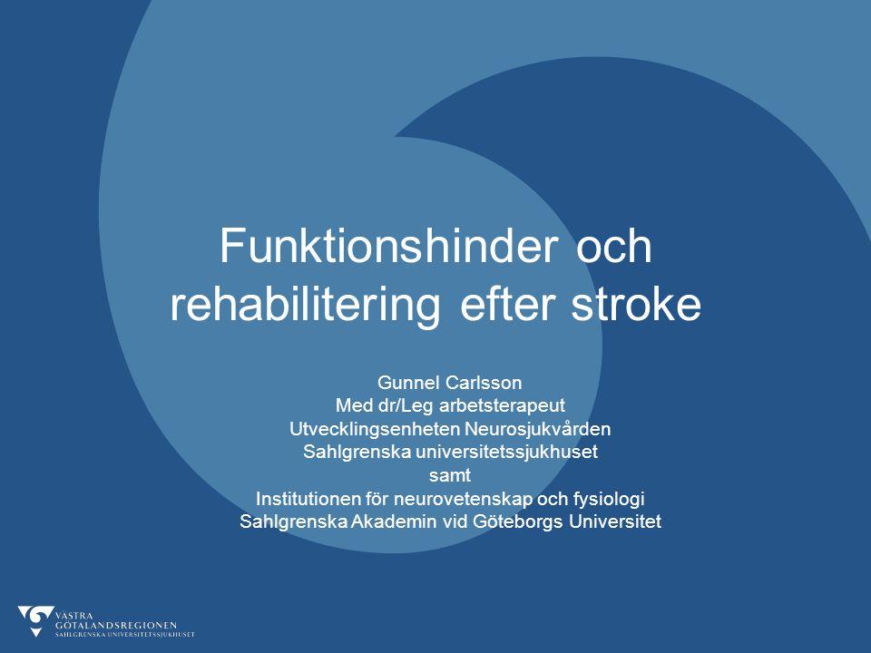 Funktionshinder och rehabilitering efter stroke