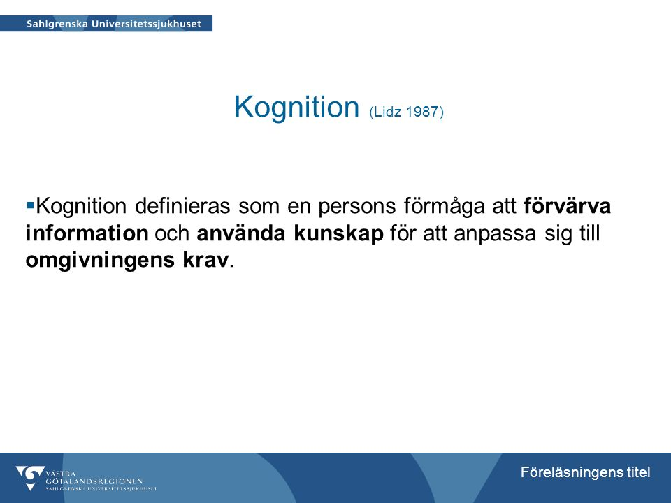 Kognition (Lidz 1987)
