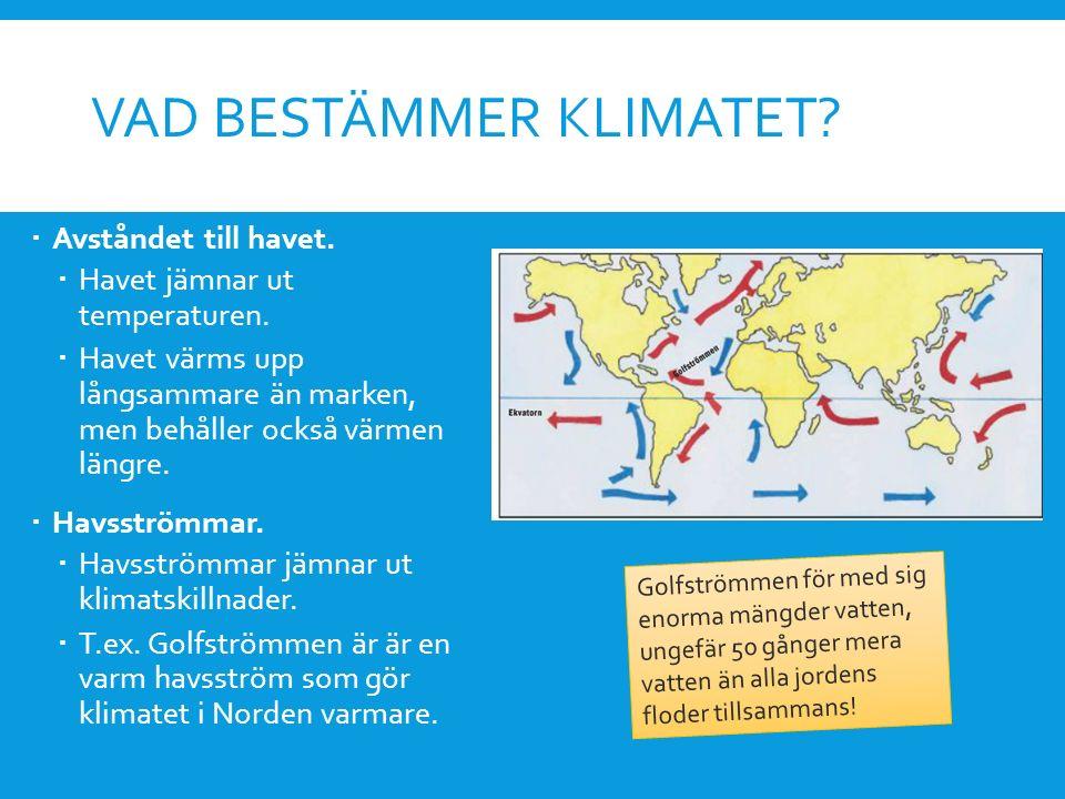Vad bestämmer klimatet