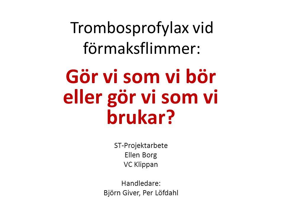 Trombosprofylax vid förmaksflimmer: