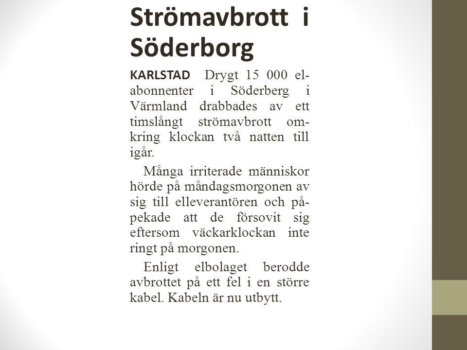 Strömavbrott i Söderborg