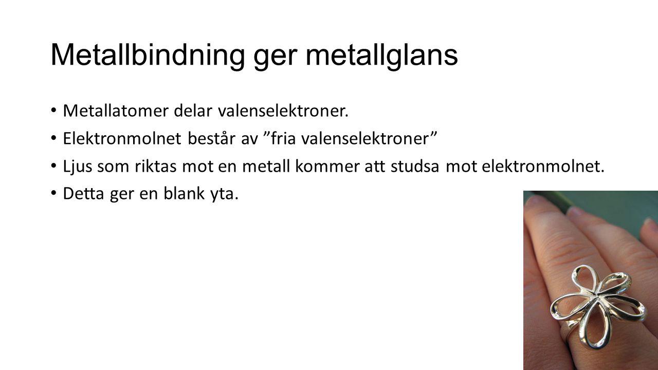 Metallbindning ger metallglans