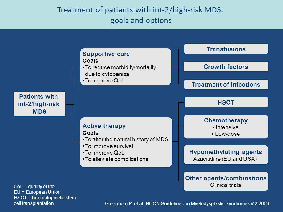 Treatment of patients with int-2/high-risk MDS: goals and options