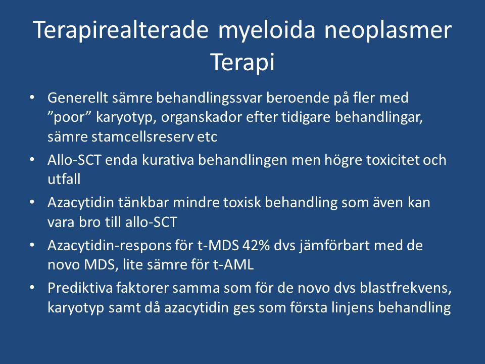 Terapirealterade myeloida neoplasmer Terapi