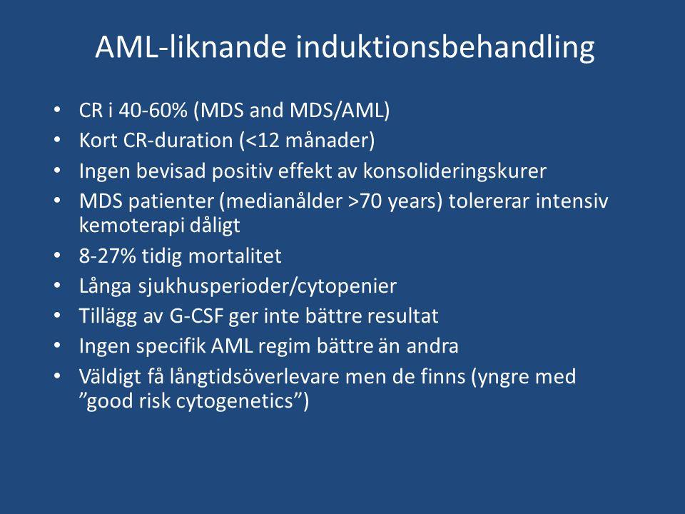 AML-liknande induktionsbehandling