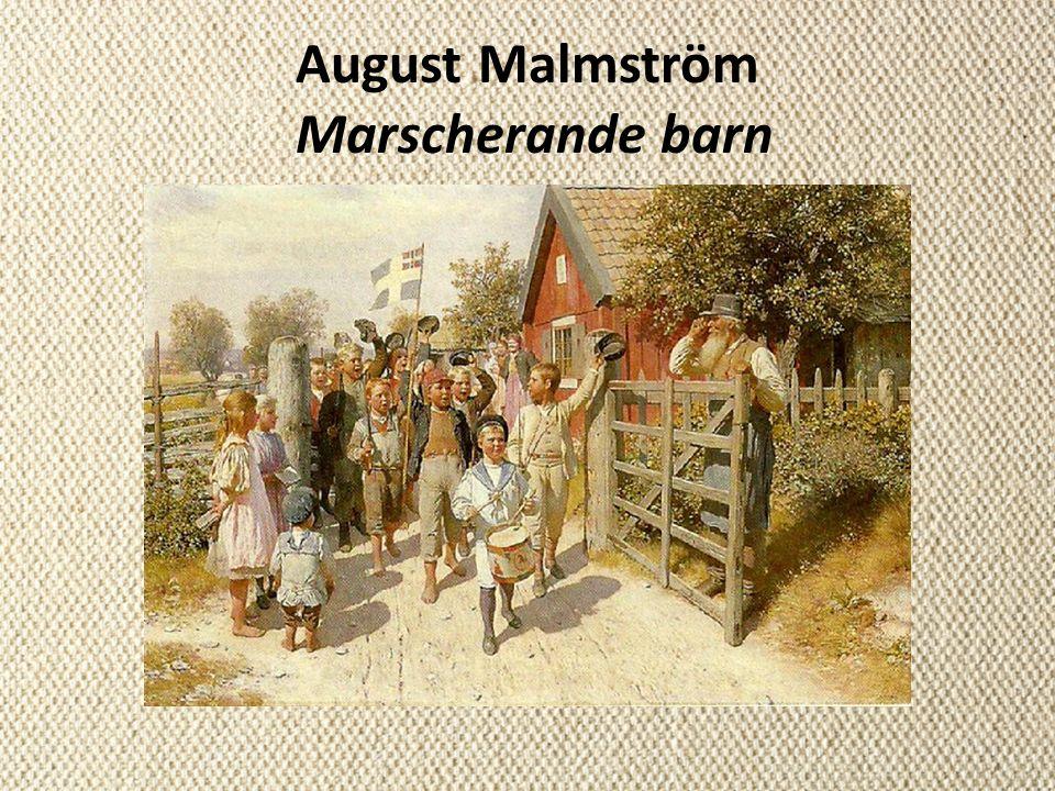 August Malmström Marscherande barn