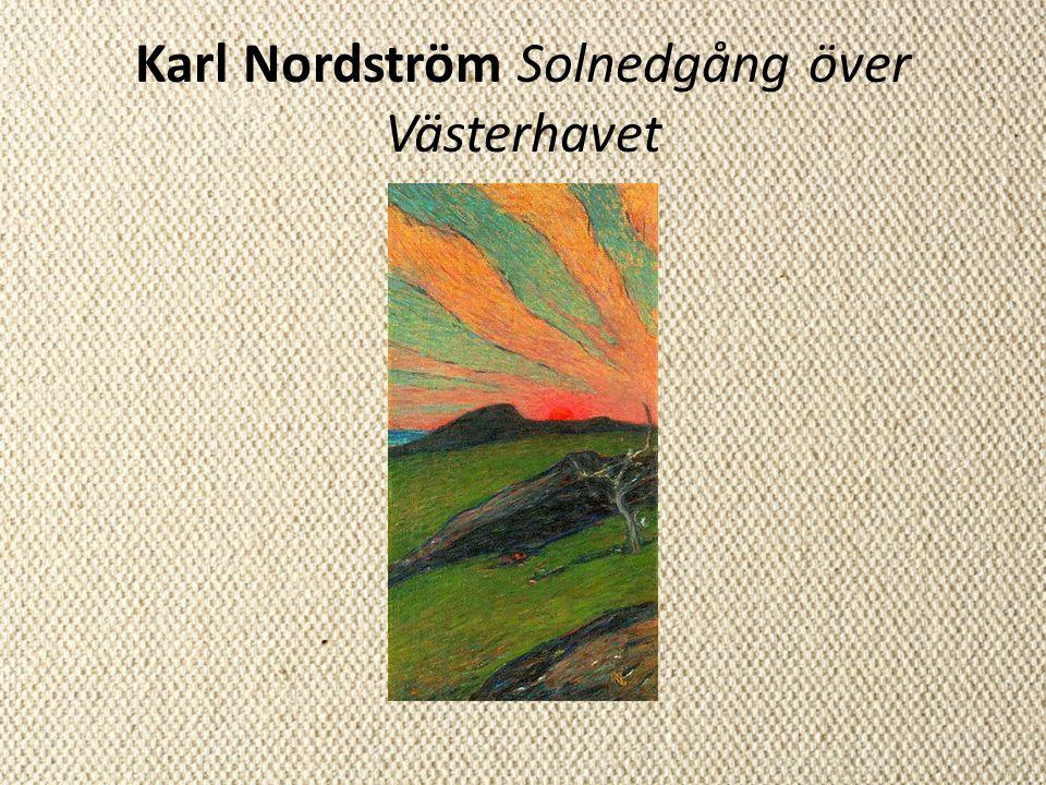Karl Nordström Solnedgång över Västerhavet