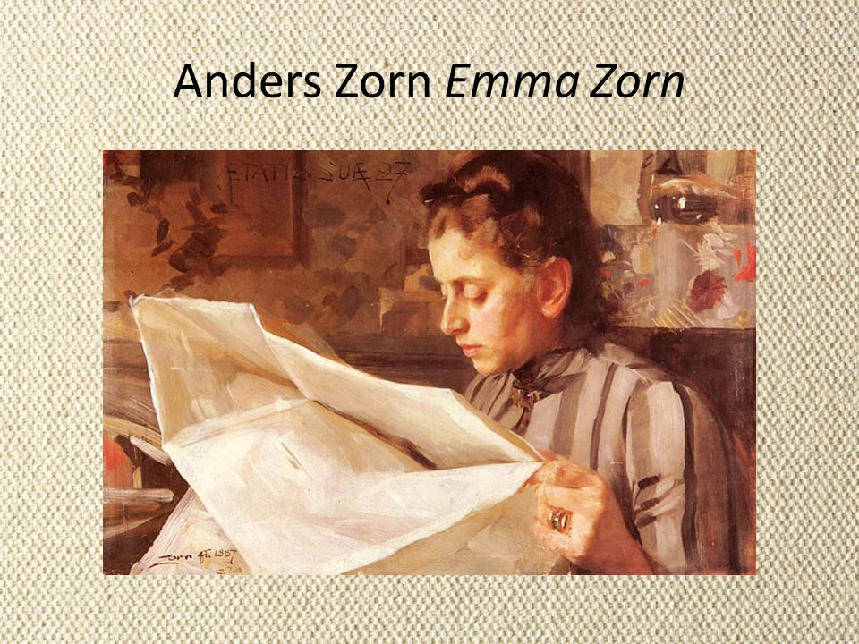 Anders Zorn Emma Zorn