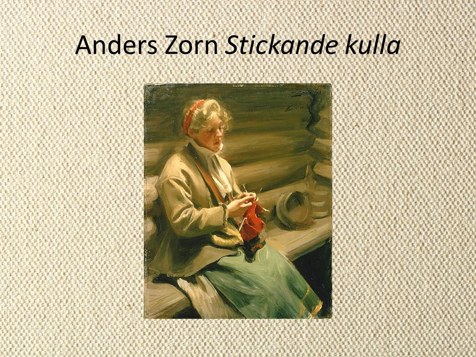 Anders Zorn Stickande kulla