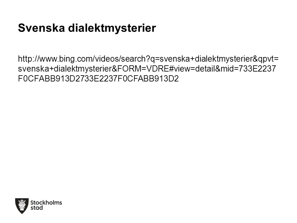 Svenska dialektmysterier
