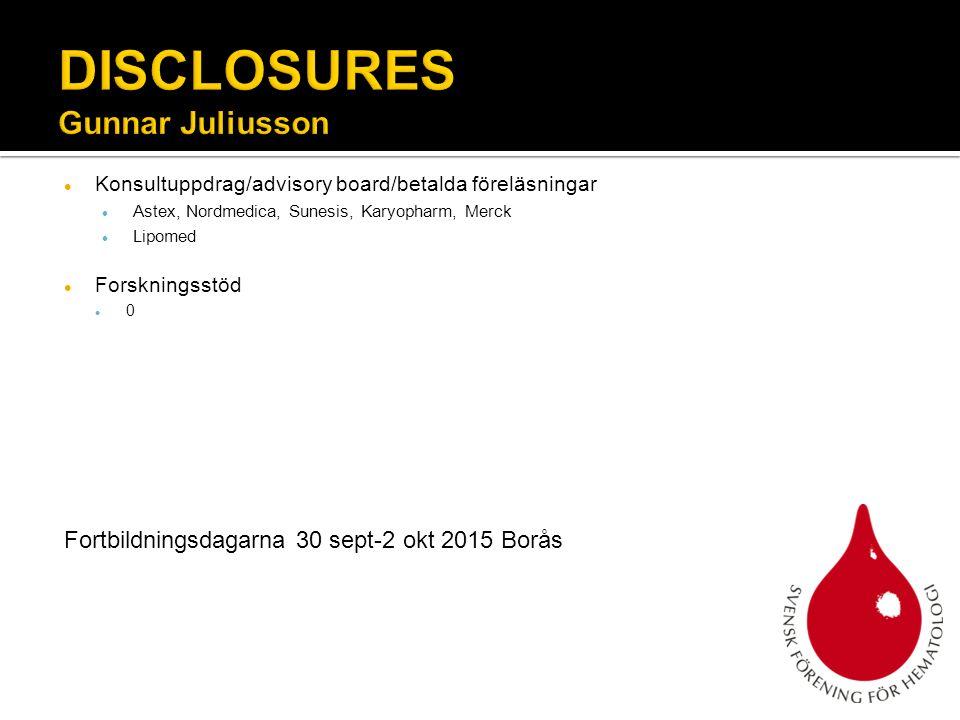 DISCLOSURES Gunnar Juliusson