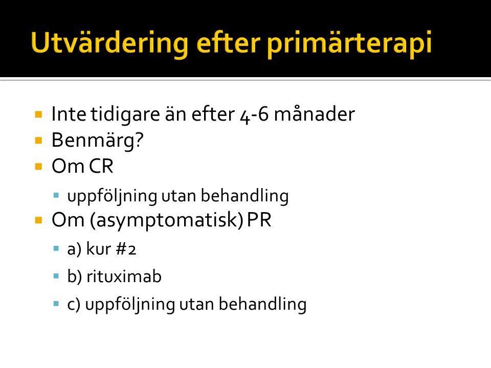 Utvärdering efter primärterapi