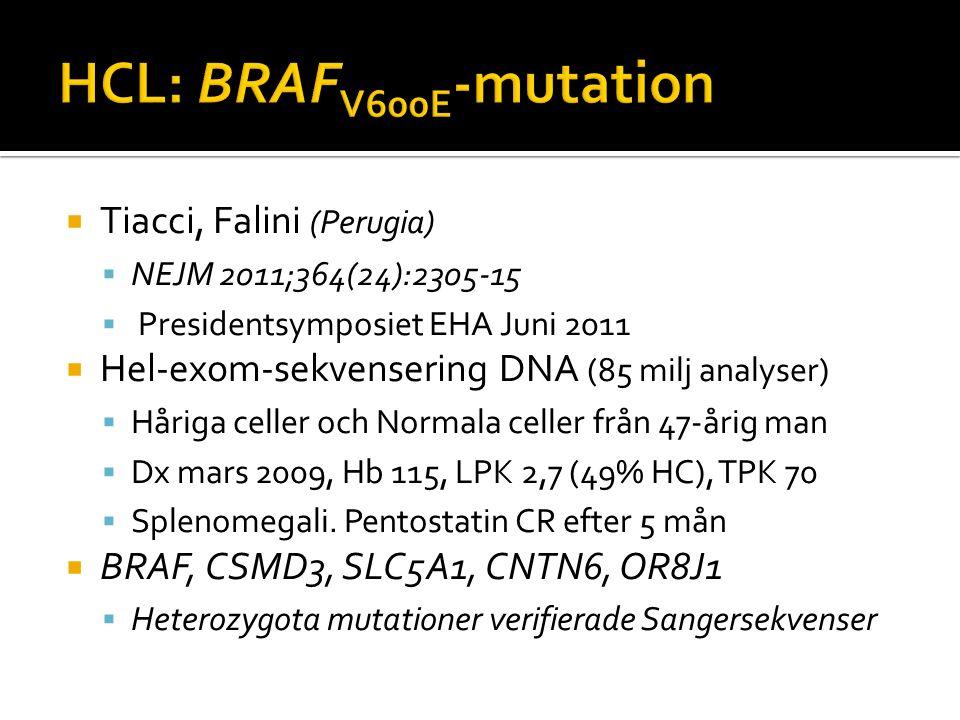 HCL: BRAFV600E-mutation Tiacci, Falini (Perugia)