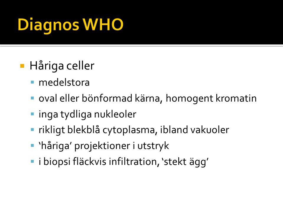 Diagnos WHO Håriga celler medelstora