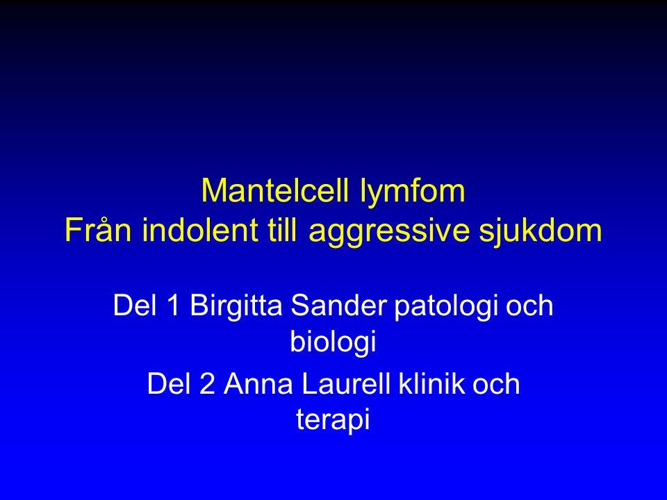 Mantelcell lymfom Från indolent till aggressive sjukdom