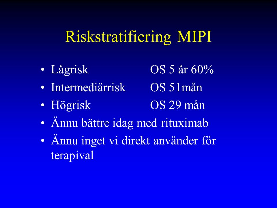 Riskstratifiering MIPI