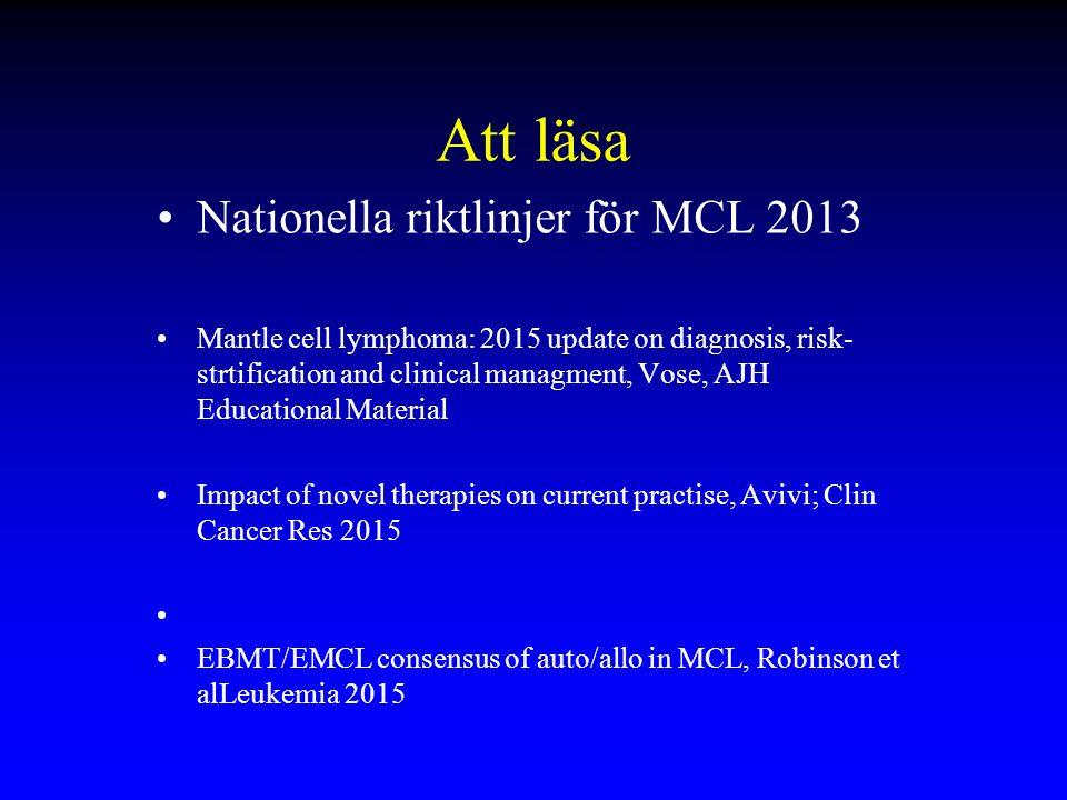 Att läsa Nationella riktlinjer för MCL 2013