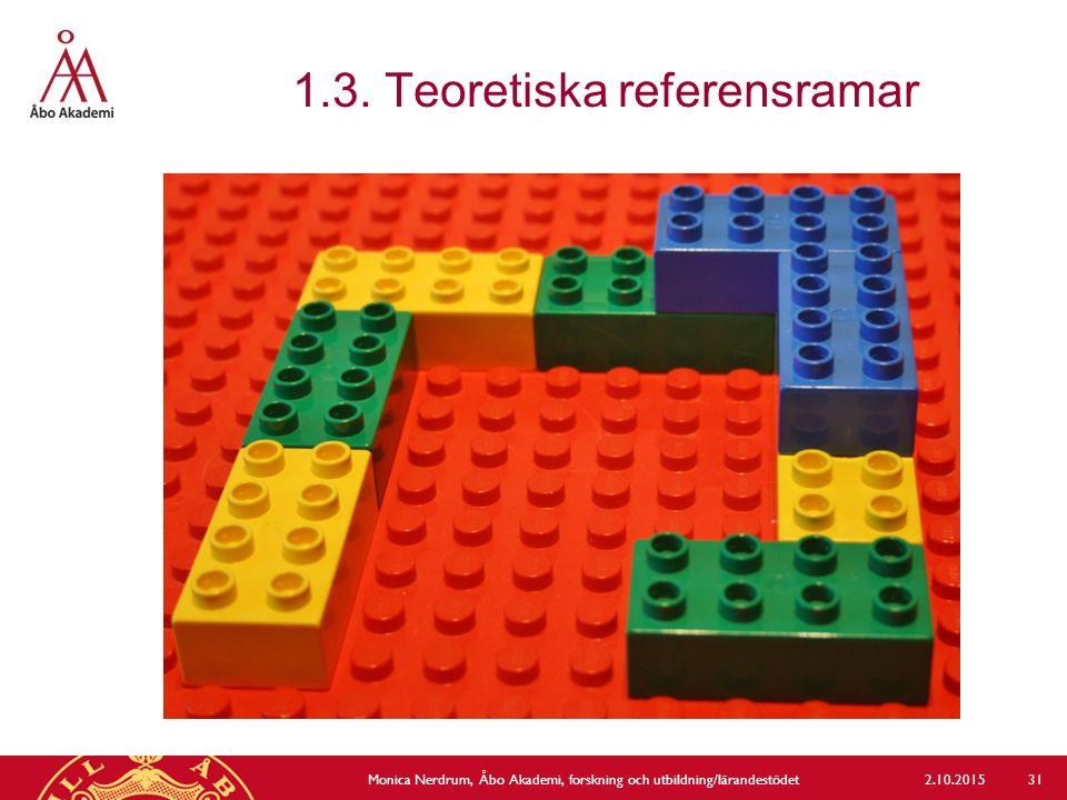 1.3. Teoretiska referensramar