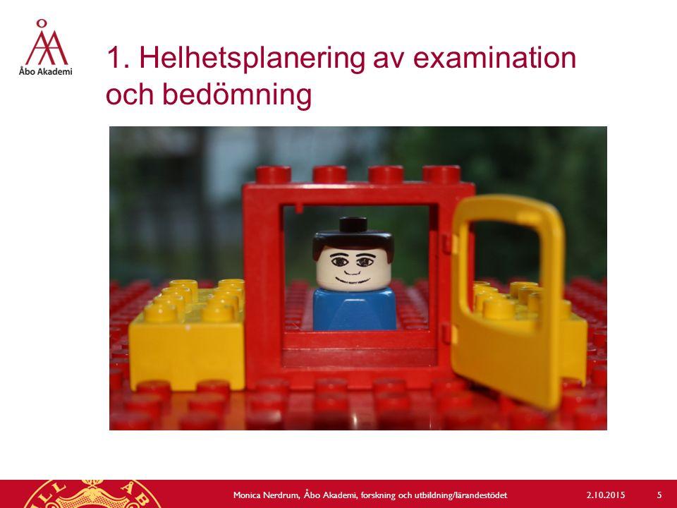 1. Helhetsplanering av examination och bedömning