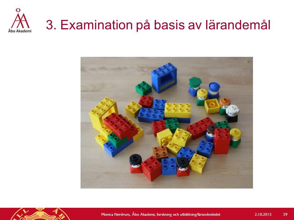 3. Examination på basis av lärandemål