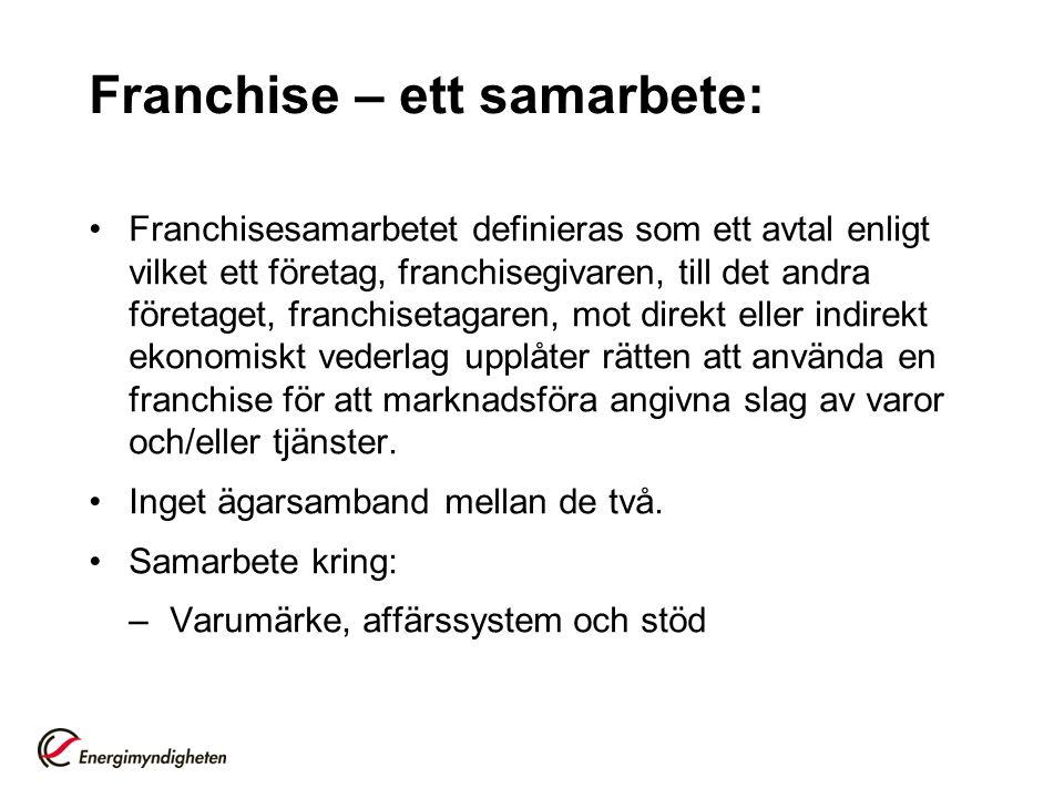 Franchise – ett samarbete: