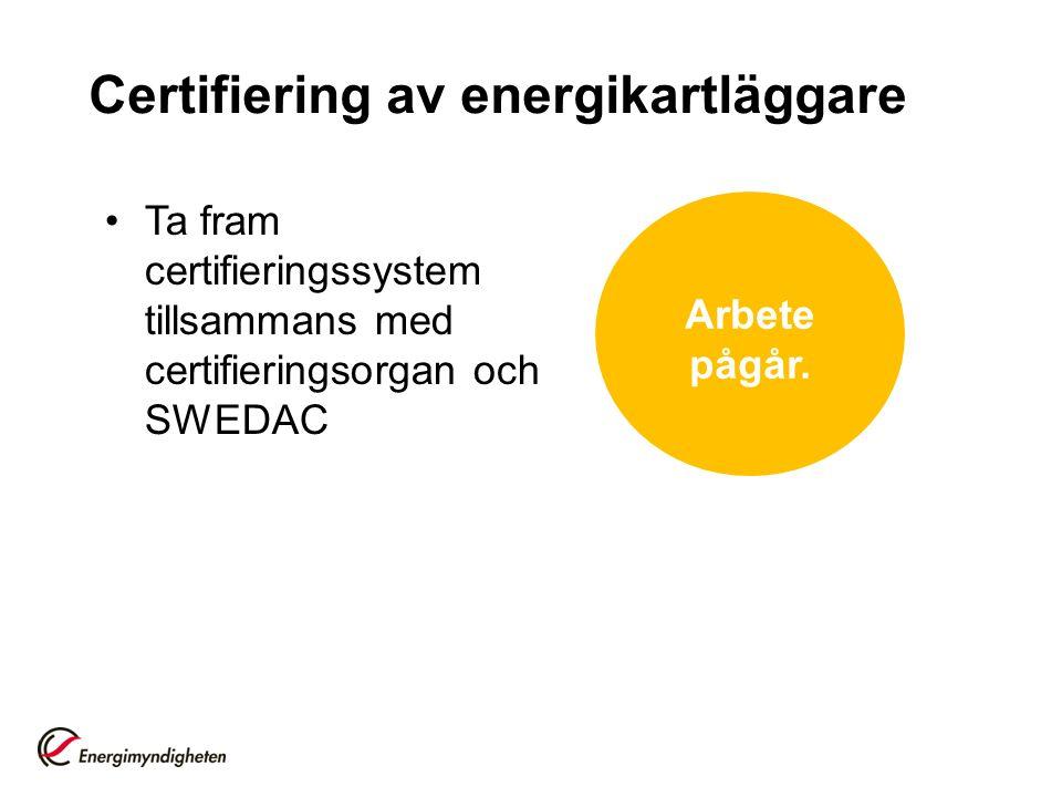 Certifiering av energikartläggare