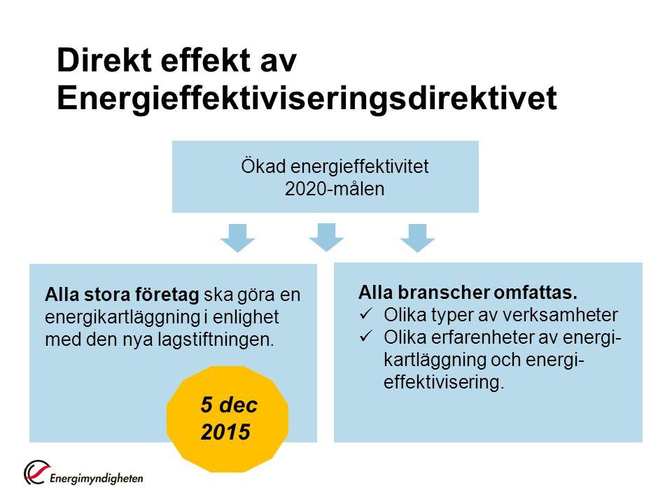Direkt effekt av Energieffektiviseringsdirektivet