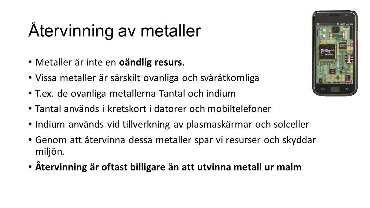 Återvinning av metaller