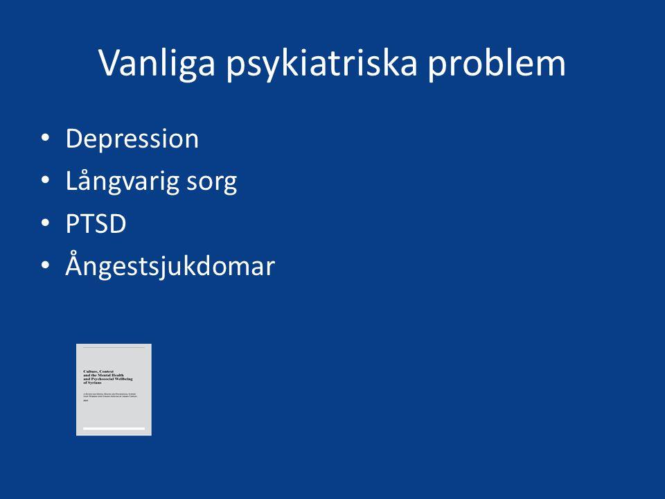 Vanliga psykiatriska problem
