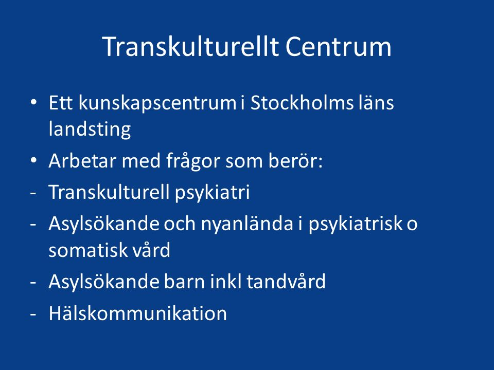 Transkulturellt Centrum