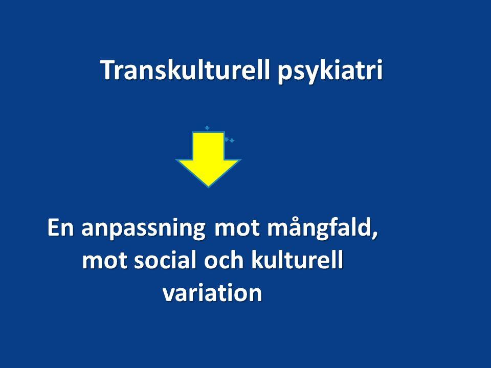 Transkulturell psykiatri