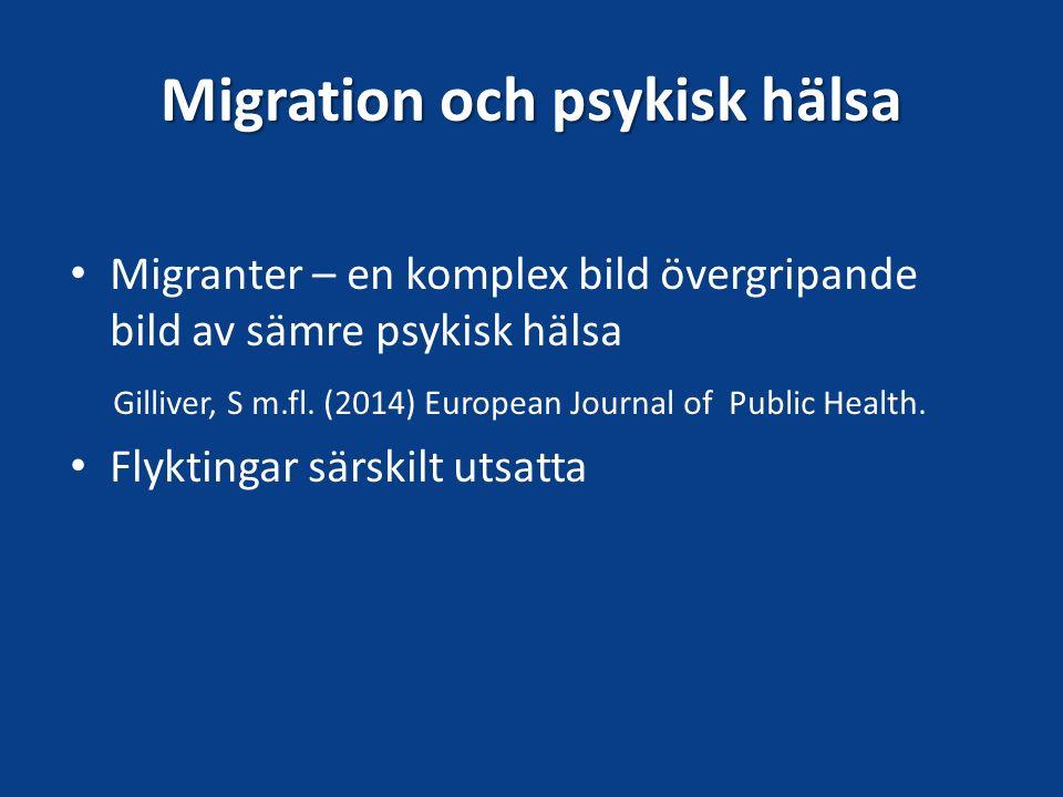 Migration och psykisk hälsa