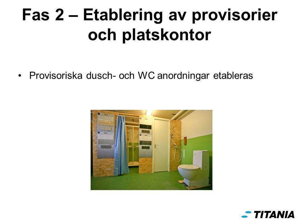 Fas 2 – Etablering av provisorier och platskontor