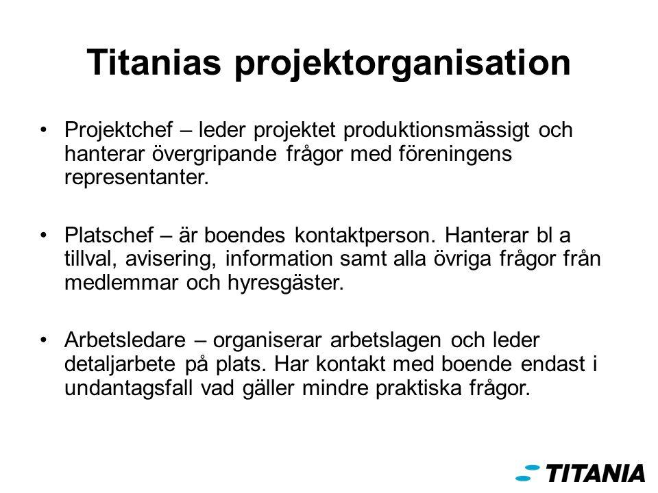 Titanias projektorganisation