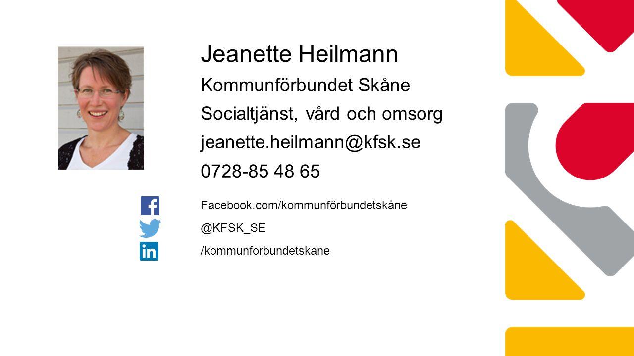 Jeanette Heilmann Kommunförbundet Skåne Socialtjänst, vård och omsorg