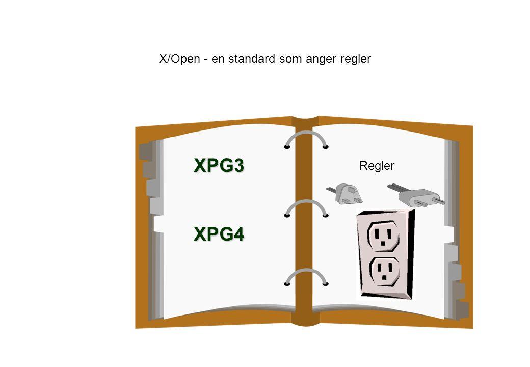 X/Open - en standard som anger regler