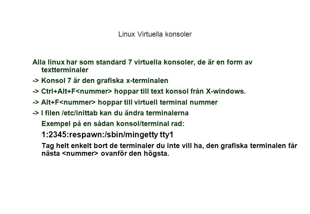 Linux Virtuella konsoler