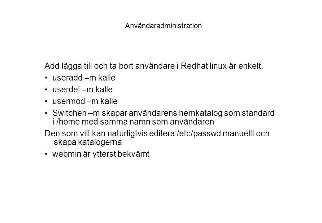 Användaradministration