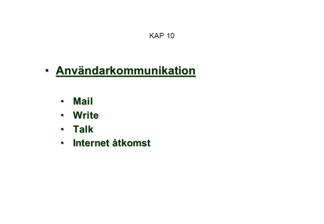 Användarkommunikation